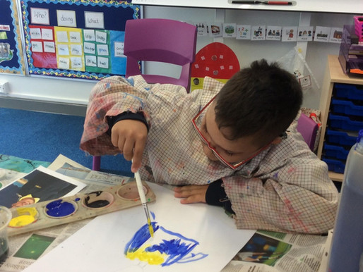 Tulip Class (Y5) have been painting self portraits as part of their 'All About Me' topic