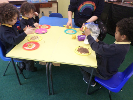 Early Years children really enjoyed making pancakes and were kind enough to offer one to Mrs Carter