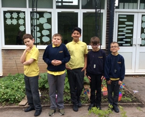 Year 5 Sunflower children worked together to build this archway for their garden.