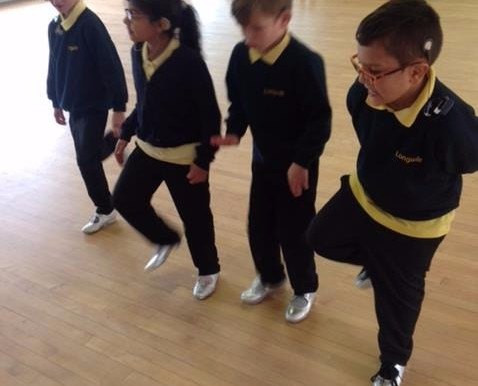 Here are some photos of Pine Class doing some tap dancing as part of our body percussion music topic