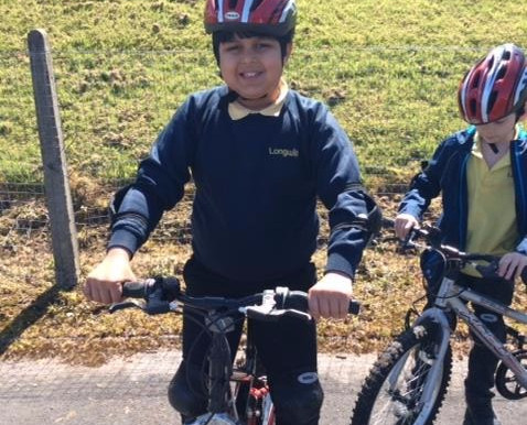 Bike club runs on Thursday lunchtimes and children have been learning to ride bikes without stabilis