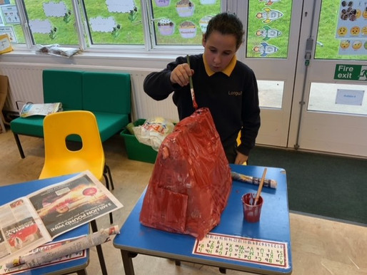 Crocodile Class (Y5) really enjoyed designing and making their own model air raid shelters ...