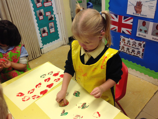 Here is some more EYFS 'Pear Tree' art!