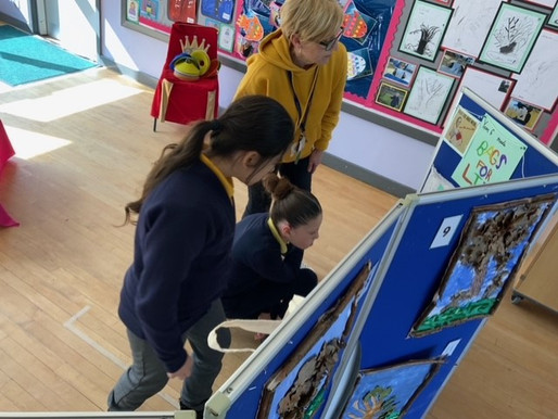 Crocodiles Class enjoyed looking at all the fabulous work in our whole school art gallery