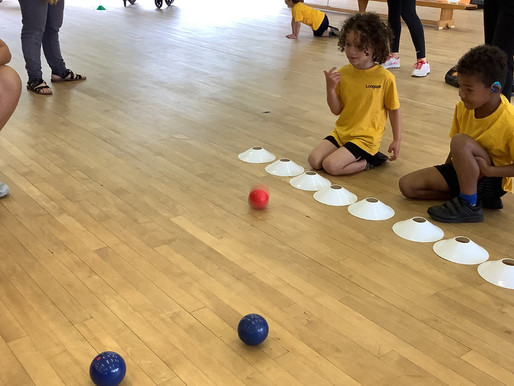 The children in Foundation have really enjoyed Sports Day. They had a go at all of the sports.