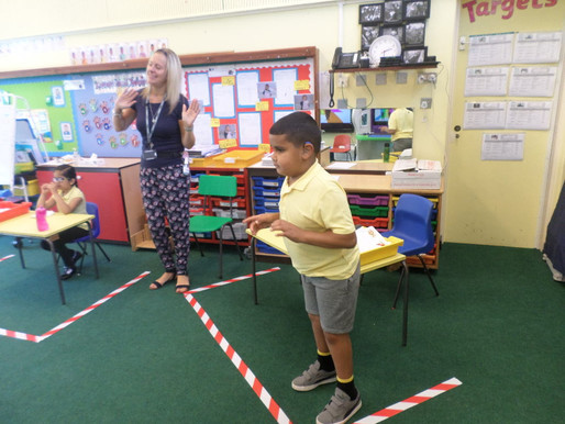 The children in school have been working very hard and making sure they keep active!