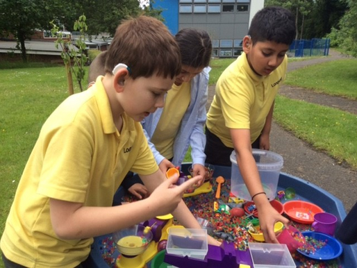 Four pupils who have loved being part of Longwill's STEM Club, joining in with a STEM afternoon.