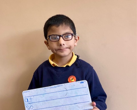 We are so proud of this little boy as he learns his spellings! Well done!