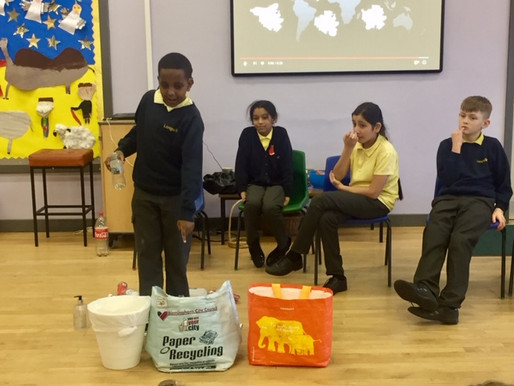 Y6 (Poppy Class) led a brilliant and informative assembly about the damage plastics do to our world.