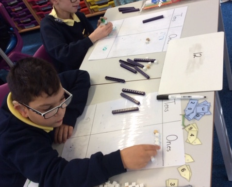 Year 5 Tulip Class have been using cubes and base ten to learn about place value in Maths