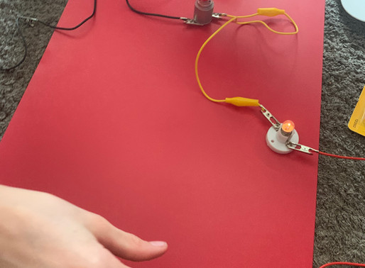 Year 6 are learning about Circuits and Electricity in Science and this pupil has been very busy.