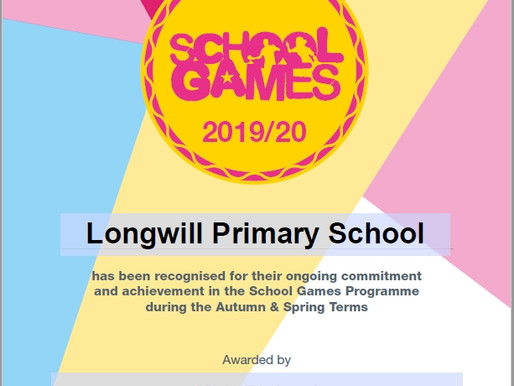 Longwill is very proud to have been awarded the School Games Mark.