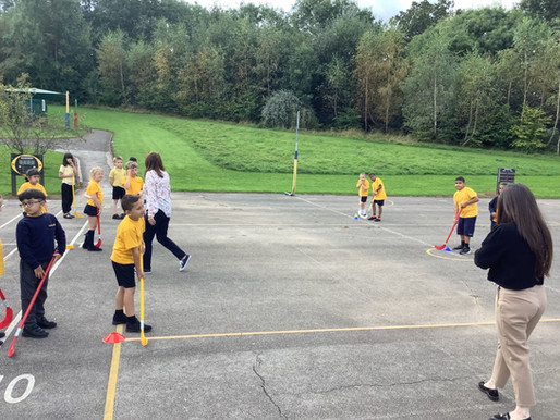 Pupils enjoyed developing their skills in their PE lesson.