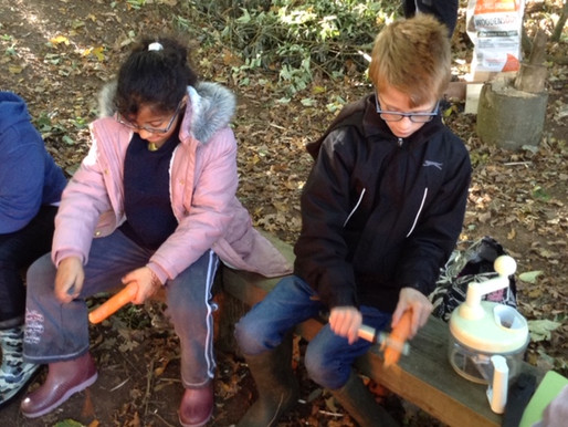 Tulip Class (Y5) have been making vegetable soup in forest school... delicious!