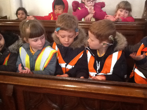 Years 1 and 2 had a wonderful time visiting St. Laurence's church today.
