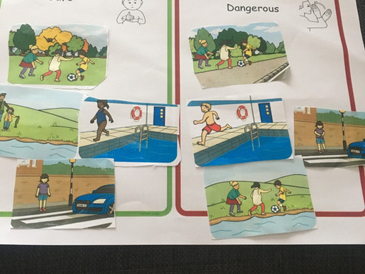 A pupil in Dolphin Class has been learning about safety.