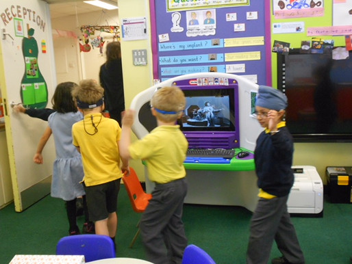 Pear Class (Reception) have been learning a new Write Dance called the Krongledong. They have used t
