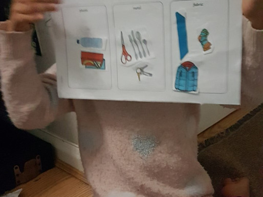 A pupil in Dolphin Class (Y1) has been learning about different materials in Science