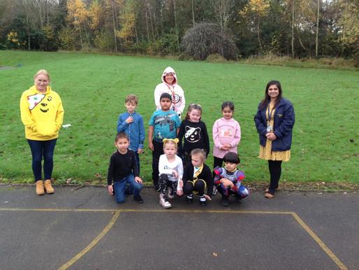 Badger Class (Y2) enjoying Children In Need...