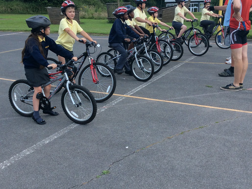 Year 4 and 5 enjoyed preparing for their Bikeability Level 1 award.