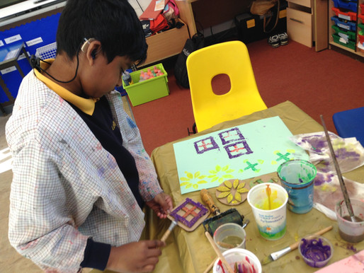 Year 5 have used printing techniques to create some beautiful art work.