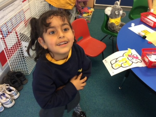 Year 1 (Dolphin Class) Have been learning about and raising money for Children in Need.