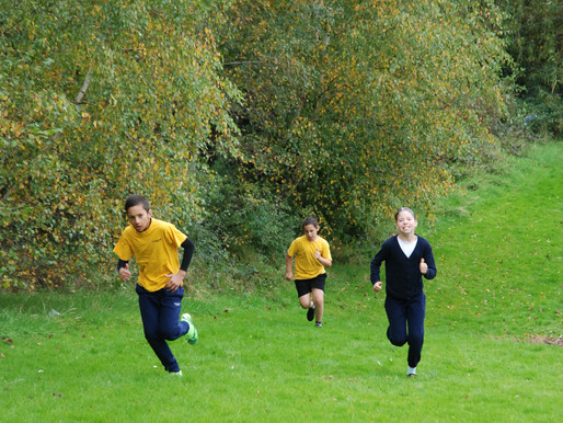Years 5 and 6 entered a virtual cross-country race.
