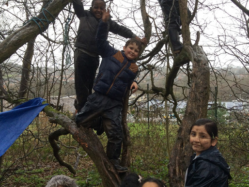 Rowan Class (Year 5) enjoyed making dens, drinking hot chocolate and playing hide and seek. They als