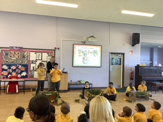 Year 5 presented on the religious festival of Sukkot in their assembly today