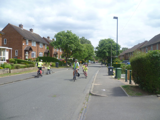 Three Year 6 pupils worked very hard to achieve their Bikeability Level 2 award.
