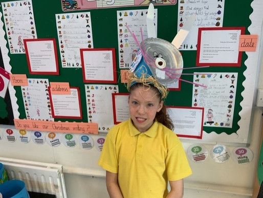 Crocodile Class made some fabulous Easter bonnets ready for the Easter Bonnet Parade!