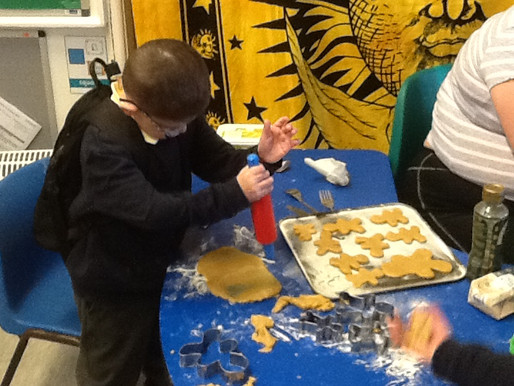 The children made gingerbread men because we read the story of the Gingerbread Man. Also we are lear