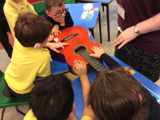 Sycamore class investigated how sound was made. We looked at how different instruments create vibrat