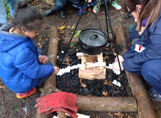 Year 2 Puffins had a fantastic time at forest school on Monday. We were chopping wood..