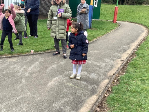 Year 1 Dolphins loved taking part in the Easter egg rolling competition.
