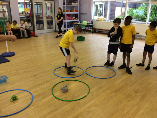 Years 4,5,6 really enjoyed improving their motor skills in PE