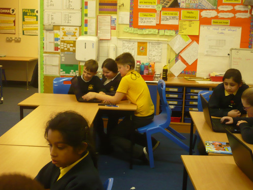 Y6 improve their typing skills with Bellfield pupils