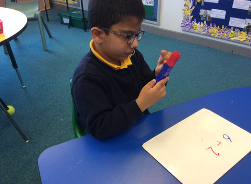 Year 1 (Dolphins) have been learning about number bonds and addition.