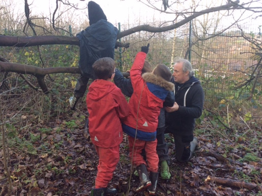 Pupils develop their team work, confidence and resilience during weekly forest school experiences.
