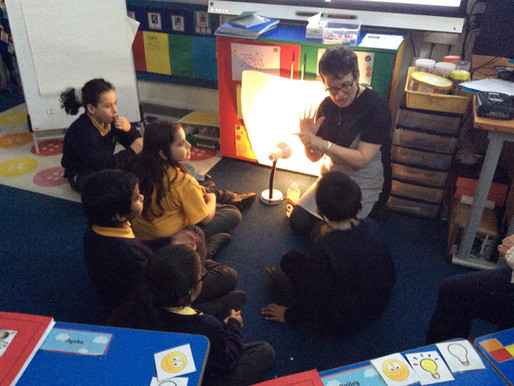 In our learning about light, Y4 Penguins explore how shadows are made...