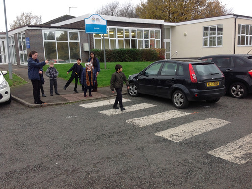 During Road Safety Week Hazel class got some fresh air whilst putting into practice our road safety