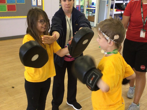 Y3 and Y4 really enjoyed learning new skills during out sports day.