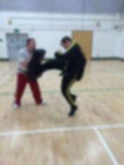 Mr Beattie from Cambridge QKD Martial Arts class