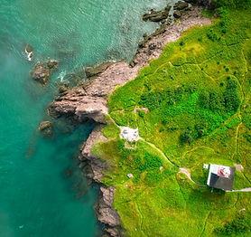 Insel durch das Wasser