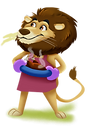 lion character what a feeling