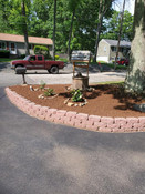 Driveway mulch bed
