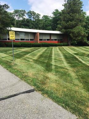 Building front lawn