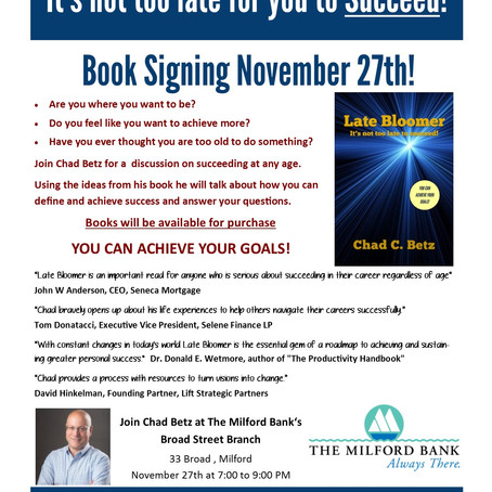 Book Signing on Tuesday!