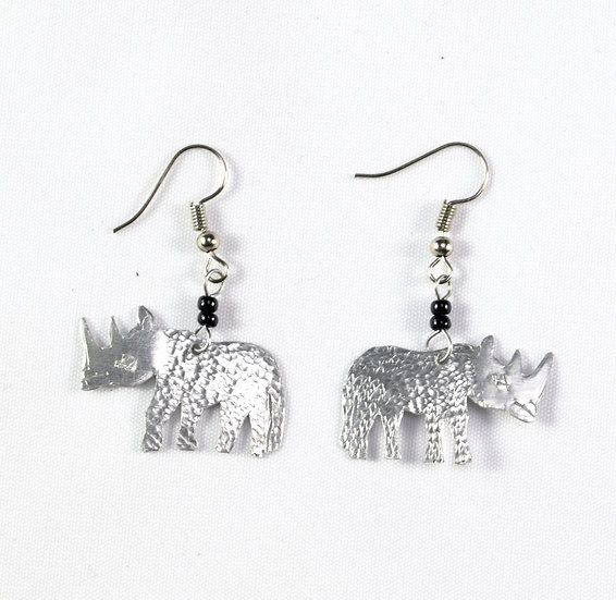 Rhino Earrings - Silver