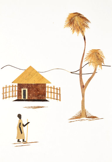 Handmade Greeting Card - Traditional House Scene
